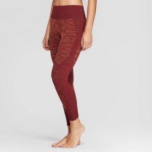 NWT Women's Red 3/4 Seamless Leggings - JoyLab XS